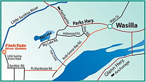 1 Little Susitna River Map - Alaska Fishing Guide | Fishtale ...